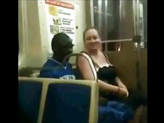 BBW Slut Swell up Black Cock On The Train