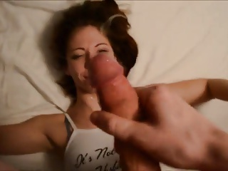 Petite Brunette Deepthroats and Fucks Nice Cock