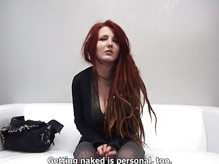 freaky redhead busty czech sucks& fucks at casting by eliman