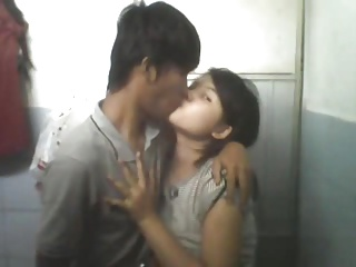 Indonesian teen making out