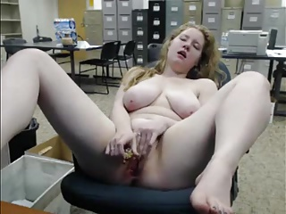 Masturbating naked on tap the office