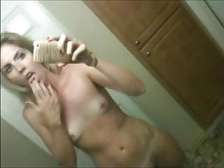 HOT MILF Bathroom Masturbation