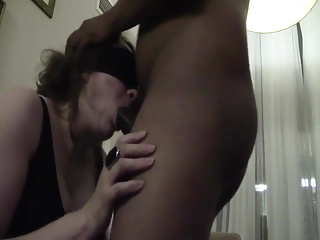 Deepthroat and face fucked tie the knot