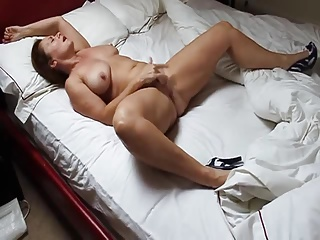 Wife masturbating until she reaches orgasm