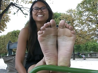 Sexy french cambodian feet with the addition of soles