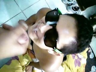 Sweet Cumshot on Babe Glasses