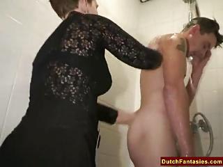 Ugly Dutch Granny Fucks Meeting Schoolboy