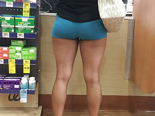 Latina booty with reference to spandex shorts Pt.1