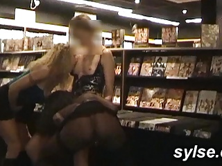 Anal orgy in sexshop, beaming and federate in restaurant