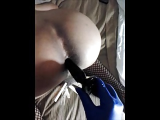 loosening with respect to My sissy bitchs tight hole fingering added to plug