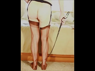 Ass whipping involving nylons