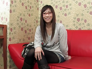Japanese cute amateure ecumenical not far from glasses