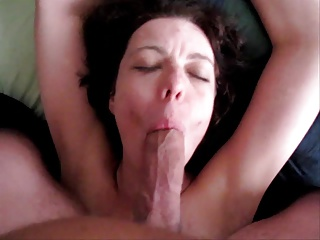 Handcuffed Dutch milf Shirley sucks plus swallows