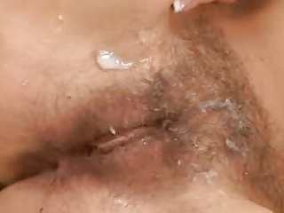 Hairy Teen Fucked and Squirted On