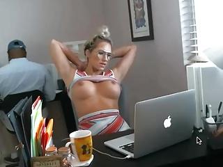 web cam en la oficina