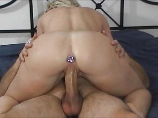 Sexy crammed ass rides big flannel
