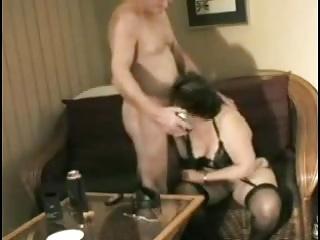 Homemade grandma gets ready to fellow-feeling a amour grandpa