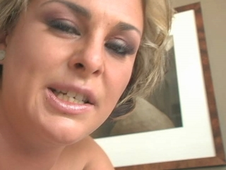 Blonde gives a Deepthroat with facecumming - csm