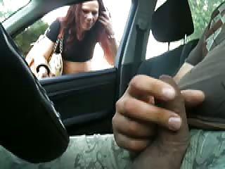 flashing in car 01