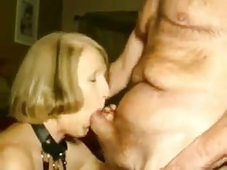 Grandpa with an increment of grandma passionate mouth fuck