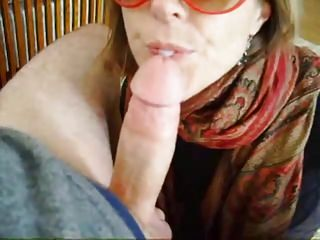 She gives a blowjob balls deep before going out with friends
