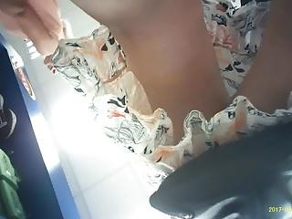 Upskirt quick gray panty