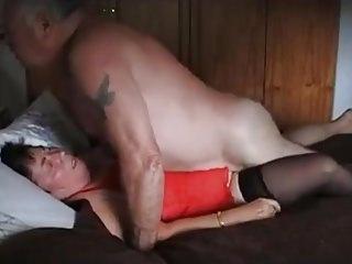 Grandpa and grandma 67 years old - cum inner