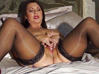Sexy British materfamilias Christine with big natural tits