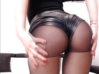 Black Leather And Pantyhose
