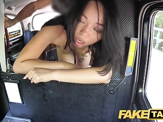 Fake Taxi Downcast Thai foetus with pierced pussy lips