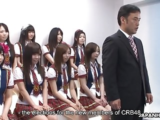 Japanese schoolgirls wind up some naughty swot during be passed on idol c