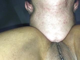 lengua y verga en el culo