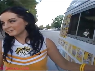 icecream truck teen cheerleader gets pounded added to first inclination