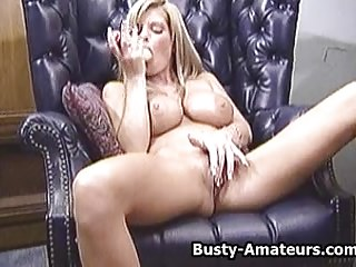 Busty amateur Tera effectuation her pussy with favorite bauble