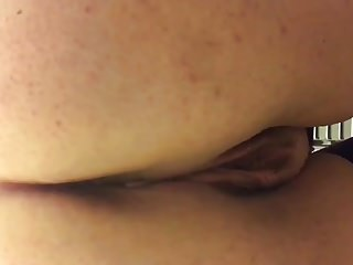 Girlfriend pissing on loo