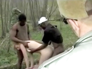 french husband let fuck his wife by 2 black guys