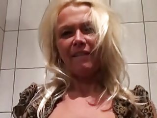 My horny German slut masturbating