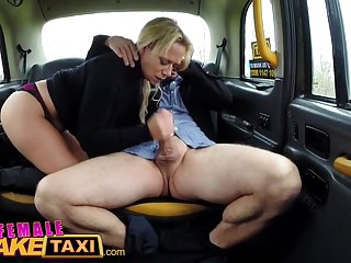Female Fake Taxi Hot busty pretty good sucks and fucks her fare