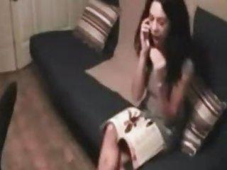Slut cheating on her boyfriend  on phone again. enjoy