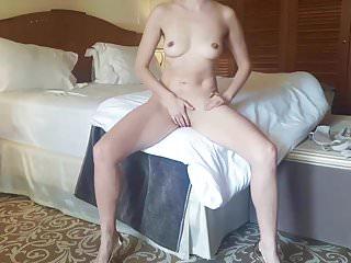Beautiful Become man Masturbating in Hotel