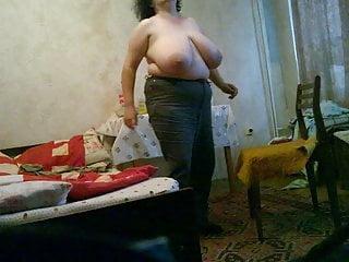 BBW Vanya home topless 2