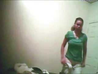 College Girl Peeped Beside Bedroom