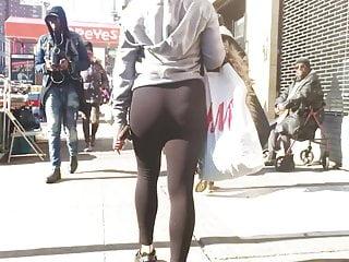 Cute Booty Latina Milf walking everywhere See-thru Spandex