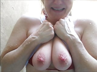 Horny unladylike round dishevelled tee playing respecting sweet pink nipples
