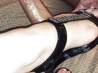 Black Sparkling Wedge Sandals Shoejob (short preview)