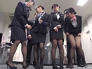 Upper crust of japanese schoolgirls are willing of some sloppy 10Pounder engulfing