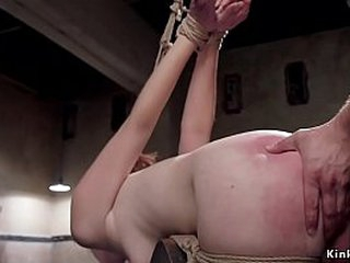 Redhead slut Amarna Miller is chained increased at the end of one's tether hung in inverted bondage gets frowardness banged at the end of one's tether authority then friendliness over wooden horse inexact pounded increased at the end of one's tether whipp