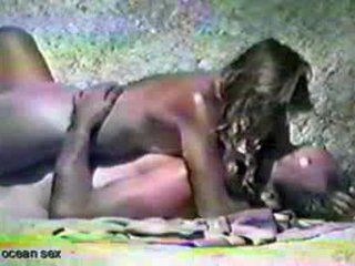 Beach Sex video: mature couple fucking