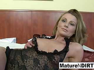 Pretty good mature gets interracial anal and a facial cumshot