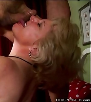 Chesty old blonde spunker is a super hot bonk &_ loves a sticky facial